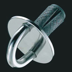 Threaded Round Eye Jump Ring (with Anchor Plug)