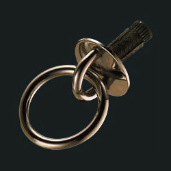 Bronze Threaded Round Eye Jump Ring Round Ring (with Anchor Plug)