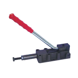 Toggle Clamp - Push-Pull - Flanged Base, Stroke 75 mm, Straight Long Handle, GH-32500HL