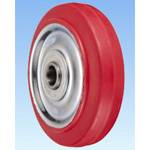 SR Type Steel Plate-Made Polybutadiene Red Rubber Wheel