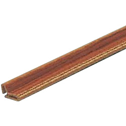 Wood Grain Pattern Finish Hard PVC Rail for Glass Door Handles