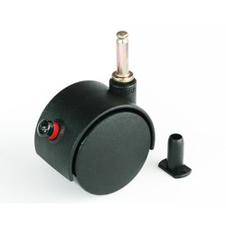 Dual Wheel Caster, Detachable Type (with Stop)
