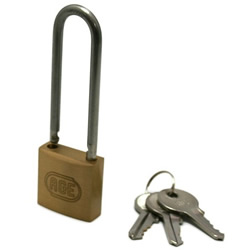 Stainless Steel Long Vine Double Lock Padlock, Different Vine Length Number