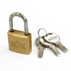 Dimpled Padlock Different Key Number