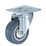 Flat Mounted Plate Type Caster 400S/400SR Wheel Diameter 75 mm