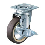 Flat Mounted Plate Type Caster 413S TL (Total Lock) Wheel Diameter 100-150mm