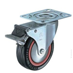 Flat Mounted Plate Type Caster 420M/415M/420MR Wheel Diameter 75-125mm