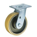 Flat Mounted Plate Type Caster 500BPS/519BPS/500BPR Wheel Diameter 100-200mm