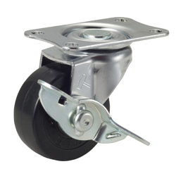 Flat Mounted Plate Type Caster 420E/415E Wheel Diameter 40-75mm