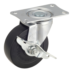 Flat Mounted Plate Type Caster 420E/415E Wheel Diameter 85-150mm