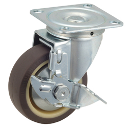 Flat Mounted Plate Type Caster 420S/413S Wheel Diameter 100-150mm