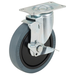 Quiet Cushion Caster, 420BBE/413BBE/420BER, Wheel Diameter 100/125 mm