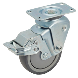 Quiet Cushion-Made Caster 940BBE/935BBE Wheel Diameter 100 mm / 125 mm
