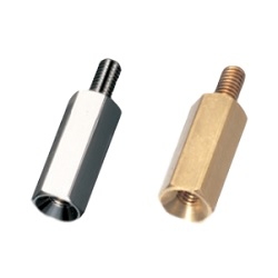 Brass Spacer (Hexagonal, Thin Plate Countersunk Screw Mounting) / KSB-BNE