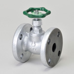 Malleable Valve, General-Purpose 10K Type, Globe Valve, Flange Shape, PTFE Disk Equipment, LPG Use