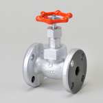 Malleable Valve, 10K Type, Globe Valve, Flanged, equipped with Reinforced PTFE Disc