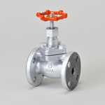Malleable Valve, 10K Type, Globe Valve, Flanged, Reinforced PTFE Disk Installed, B・B Type