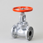 Malleable Valve, 10K Type, Globe Valve, Flanged, equipped with Reinforced PTFE Disc, External Thread B・B Type