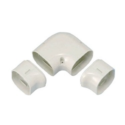"Materials for Air Conditioners, ""SLIMDUCT LD Series"", Twisted 90° Elbow"