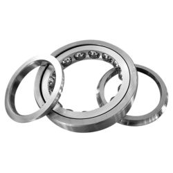 Four point contact bearings QJ3..-N2, main dimensions to DIN628-4, can be dismantled, with split inner ring, with two retaining slots