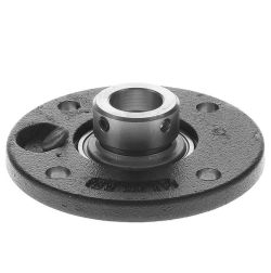 Housing units PMEY, four-bolt flanged housing units, cast iron, centring spigot, grub screws in inner ring, P seals