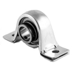 Plummer block housing units PBY, sheet steel housing, radial insert ball bearing with grub screws in inner ring, P seals