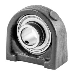 Plummer block housing units PSHEY, cast iron housing, radial insert ball bearing with grub screws in inner ring, P seals