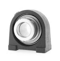 Plummer block housing units RSHE, cast iron housing, radial insert ball bearing with eccentric locking collar, R seals
