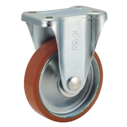 P-WK Type Caster for Medium Loads with Logllan (Urethane) Wheel Type with Fixed Hardware