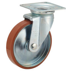 P-WJ Type Caster for Medium Loads with Logllan (Urethane) Wheel Type with Swivel Hardware