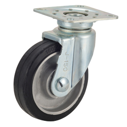 Caster for Trolleys TRS-AWJ Type, Aluminum Core Type with Swiveling Hardware, Silent