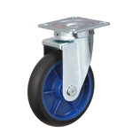 Low Starting Resistance Caster LR-WJ Type with Rubber Wheel Type with Swivel Hardware