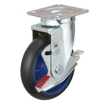 Low Starting Resistance Caster LR-WJB Type with Rubber Wheel Type with Stopper and Swiveling Hardware