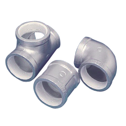 Screw Sealing Agent-Coated Threaded Malleable Cast Iron Pipe Fitting, PS Fitting, Union