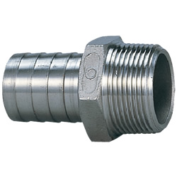 Stainless Steel Screw-In Pipe Fitting, Hose Nipple