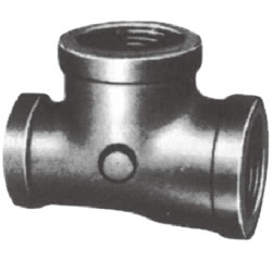 Screw-In PL Fitting, Rimmed Reducing Tee (Small, Unidirectional)