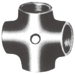 Screw-In Malleable Cast Iron Pipe Fitting, Cross
