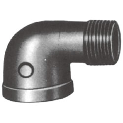 Screw-In PL Fitting, Malleable Cast Iron Pipe Fitting, Reducing Straight Elbow (Rimmed)