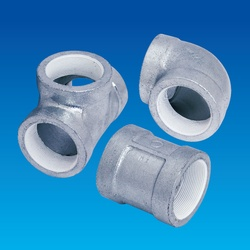 Screw Sealing Agent-Coated Screw Type Malleable Cast Iron Pipe Fitting, PS20K Continuous Feeding Piping Fitting, Flange