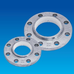 Screw Sealing Agent-Coated Screw Type Malleable Cast Iron Pipe Fitting, PS Screw-In Flange 10K