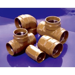 Fire Extinguishing Piping Screw-In Outer Surface Anti-Corrosive Fitting, K-PLV Fitting, Reducing Tee