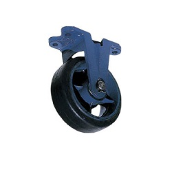Casting Caster (Rubber Wheel, Wide Type) Fixed Type