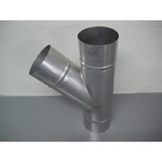 Stainless Steel Duct Fitting 45° Y Pipe