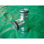 F-Ring Spiral Duct Fittings T Tube Two-way F
