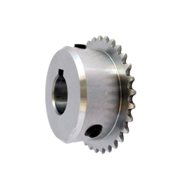 Micro Pitch Sprocket Model 15B, Semi-F Series, Shaft Hole Machining Completed (New JIS Key)