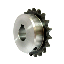 Standard 2050 Double Pitch Sprocket, B Type for S Rollers, Semi-F Series, Shaft Hole Machining Completed (New JIS Key)
