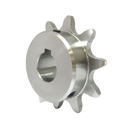 Standard 2042 Double Pitch Sprocket, B Type for R Rollers, Semi-F Series, Shaft Hole Machining Completed (New JIS Key)