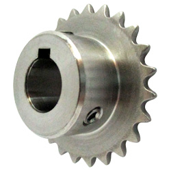Stainless Steel Sprocket Model 25B, Semi-F Series, Shaft Hole Machining Completed (New JIS Key)