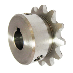 Stainless Steel Sprocket Model 35B, Semi-F Series, Shaft Hole Machining Completed (New JIS Key)