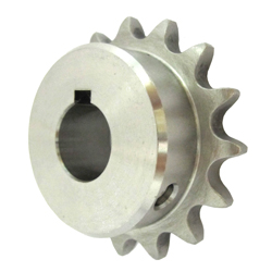 Stainless Steel Sprocket Model 40B, Semi-F Series, Shaft Hole Machining Completed (New JIS Key)